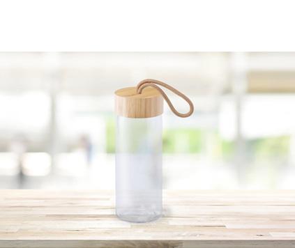 Glasflaska Bambu