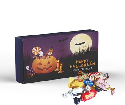 Halloweengodis brevlådeask