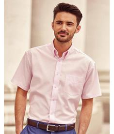 RUSSEL Skjorta Oxford kortärmad