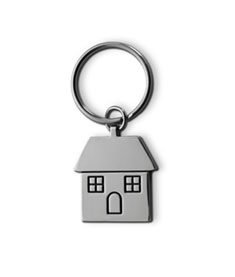 Nyckelring Hus Metall